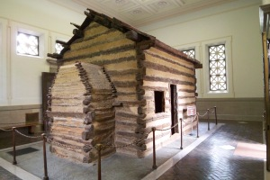 Legend has it that Lincoln was born in this one-room cabin.... Sounds made-up to me.