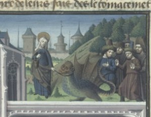 St Martha with her dragon