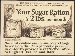 Sugar rationing in WW2