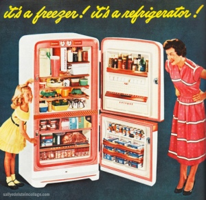 Vintage (?) fridge advert