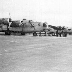 466th BG Liberators lined up at Attlebridge