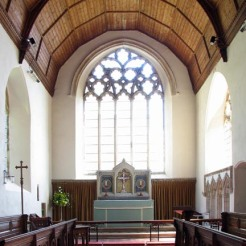 All Saints, the medieval church which was once home to Parson Woodforde (author of The Diary of a Country Parson). This delightful parish church has important medieval survivals in its screen, its wall paintings and its glass.