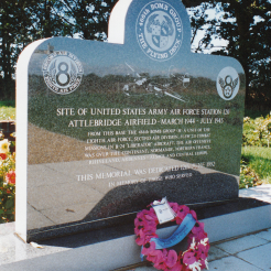 During the 1992 Bomb Group Reunion a new memorial was dedicated at a crossroads on Frans Green.