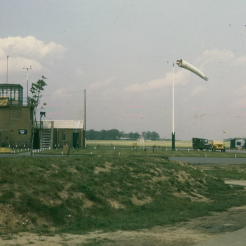 Control tower at Attlebridge Airfield, 1945. From our collection. © John Michael.