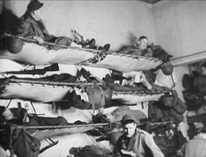 Almost 12,000 American G.I.s were crammed into bunks on the Queen Mary. The crossing took six days.
