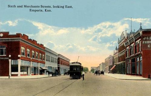 Sixth Avenue and Merchant Street, Emporia, Kansas.