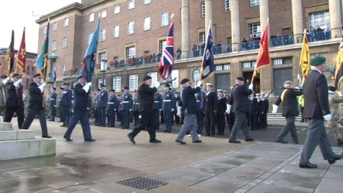 Remembrance Service in Norwich