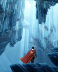 Superman at his Fortress of Solitude
