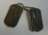 Dog tags owned by Charles Harter