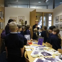 School children exploring some of the 2AD WWII Memorabilia