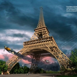 Overstreet Flies Through the Eiffel Tower in Pursuit of a German Plane