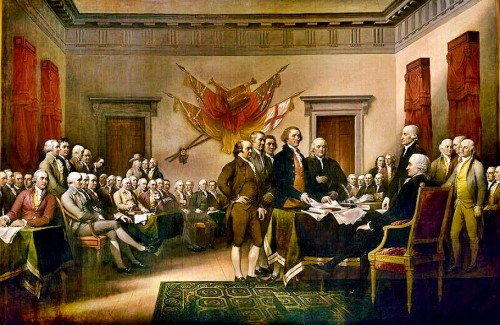 Signing of Declaration by Trumbull (1817) held in the U.S Capitol