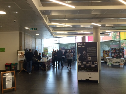 There were lots of other interesting and informative booths set up in the lobby. It was a great opportunity to be able to network and meet other local organizations involved with history and community engagement as related to WWII Britain.
