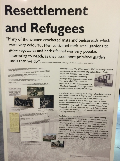 It was also interesting to read about England's long history of welcoming refugees fleeing war-zone areas.