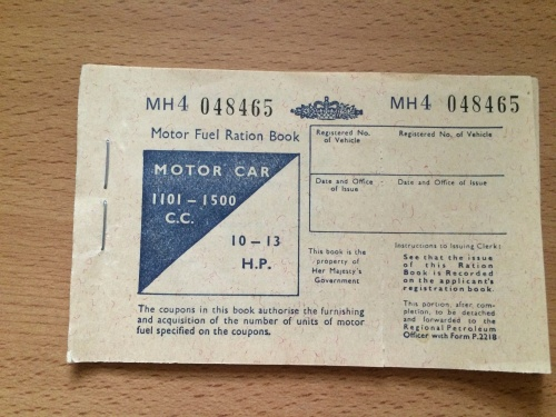 motor ration fuel book