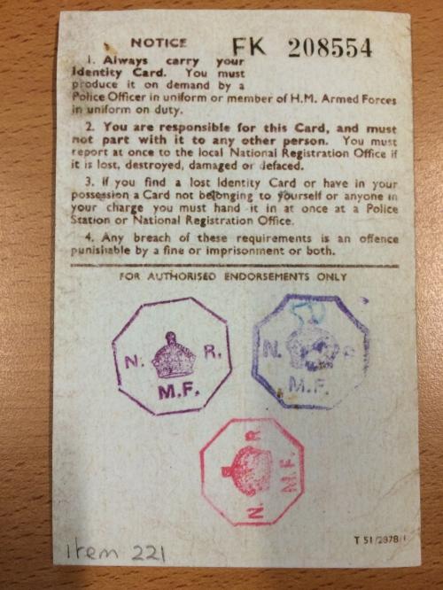 national ID card back