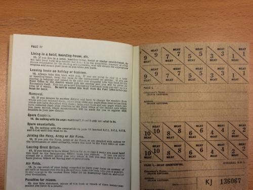 ration book inside